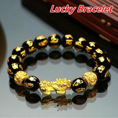 wealth, gold, Bracelet, luckcharm