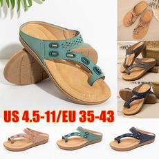 Summer, Sandals, womenflatslipper, Buckles