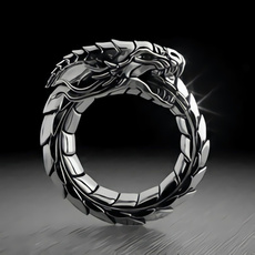 Sterling, hip hop jewelry, dragonring, 925 silver rings