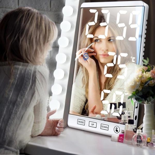 Makeup Mirrors, led, usb, Clock