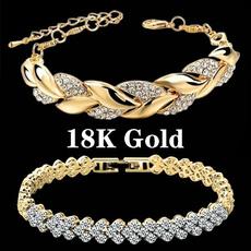 Charm Bracelet, Sterling, DIAMOND, Chain bracelet