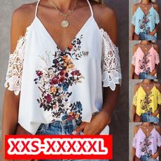 Summer, Plus Size, Floral print, Lace