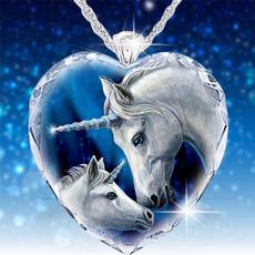 Sterling, crystal pendant, Dress, unicorn