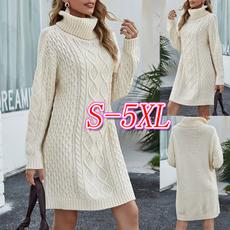 Turtle, solidcolorsweater, dresssweater, Long Sleeve