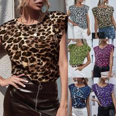 Summer, Plus Size, leopard print, leopard top