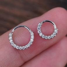 piercedearring, rose gold, Hoop Earring, Jewelry