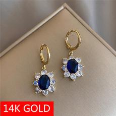 gold, fashionearringsforwomne, 14k Gold, CZ