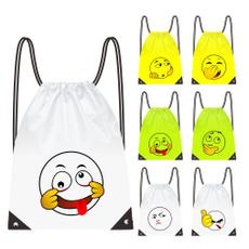 Funny, Nylon, Drawstring Bags, Tote Bag