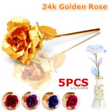 golden, Decor, Flowers, lover gifts