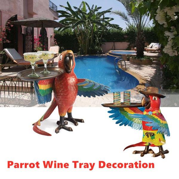 Kitchen, parrotwaiter, resinparrotwinetray, decorationsforlivingroom