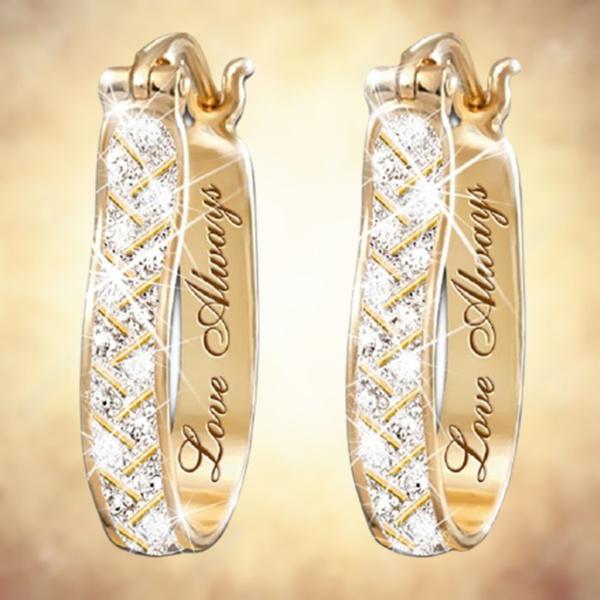 Hoop Earring, Romantic, gold, 18 k