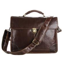 case, brown, Designers, genuine leather bag.