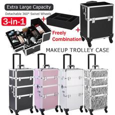 case, 3in1cosmeticorganizer, trolleymakeupcase, Beauty
