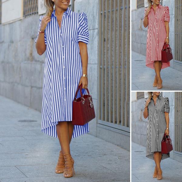 shortsleeveddresse, womens dresses, Shirt, shirt dress