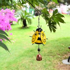 Bell, Glass, wroughtiron, bee