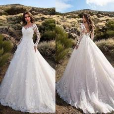 gowns, Moda, Encaje, Long Sleeve
