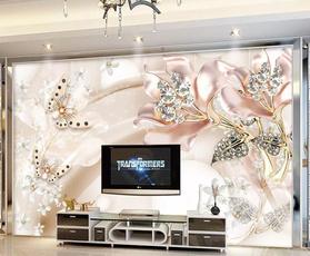 decoration, Flowers, TV, 3dwallpaperwallpaper