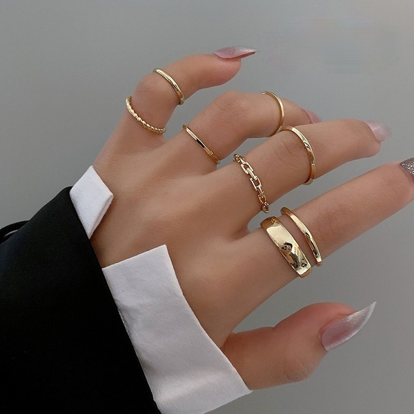 18k gold, Jewelry, ladiesring, ringset