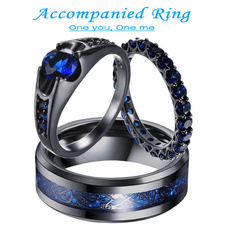 Steel, Love, wedding ring, gold