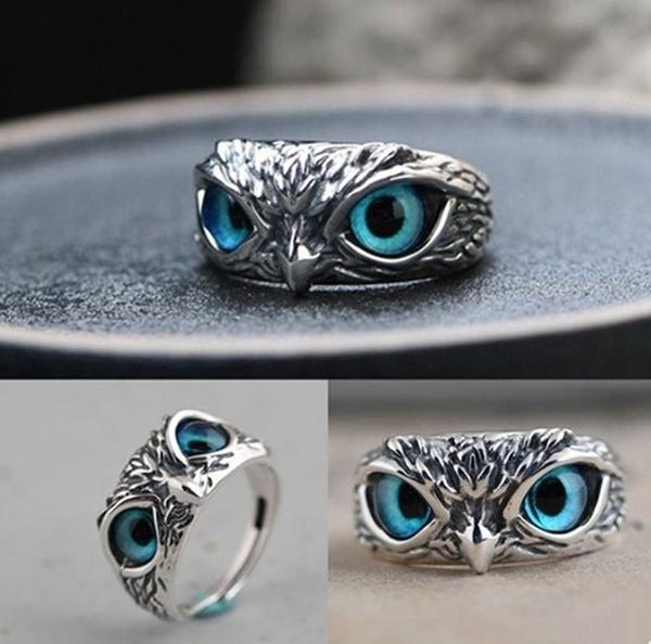 Blues, Owl, animalring, Jewelry