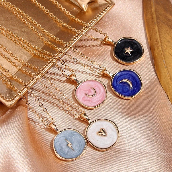 Heart, Fashion necklaces, Star, Chain