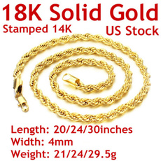 yellow gold, Rope, goldnecklaceformen, Jewelry