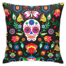 personalized pillowcase, decorationpillow, skull, Simple