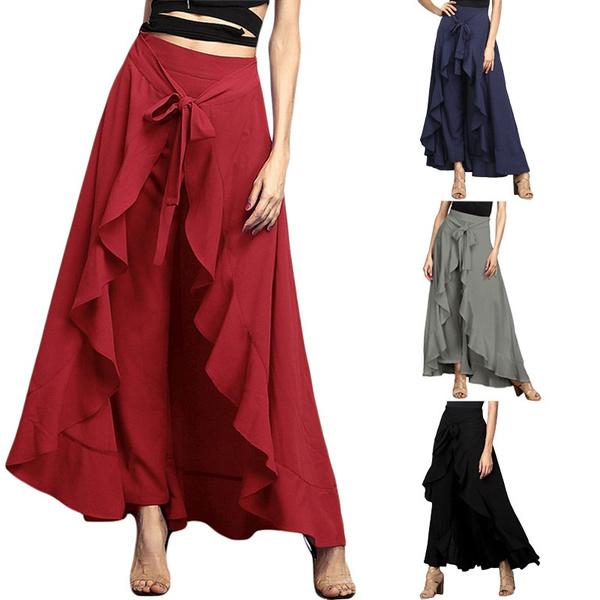 fashion women, Fashion, high waist, temperamentculotte