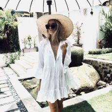 Summer, short sleeve dress, women beachwear, bodycondresswomensummer