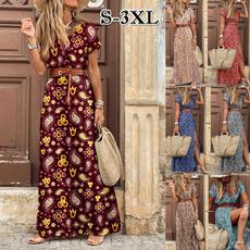 short sleeve dress, womensfashiondresssummer, Dress, Elegant