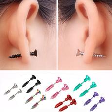 piercedearring, Steel, stainless steel earrings, Jewelry