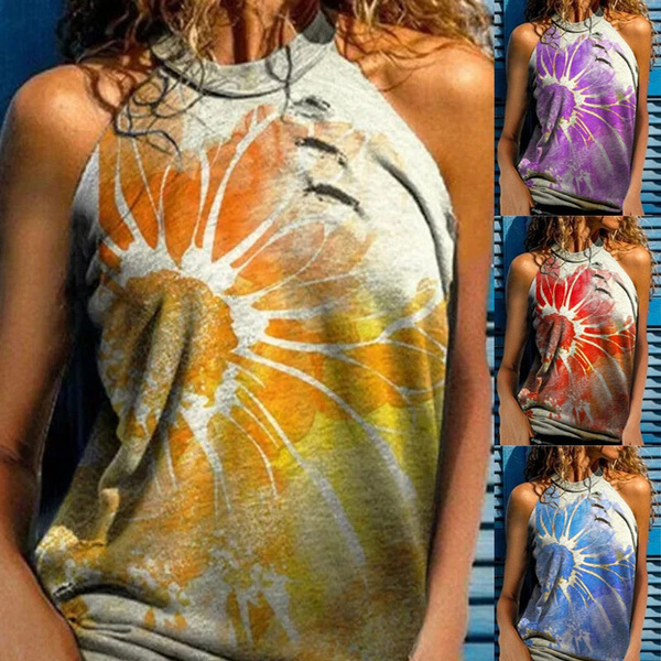 Summer, Vest, Plus Size, Halter