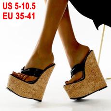 slopewithflipflop, womenshighheelslipper, Women Sandals, Womens Shoes