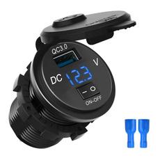 usbpoweroutlet, cigarettelightersocketsplitter, ledvoltmeter, charger