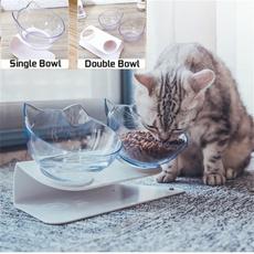 cute, catdrinkingbowl, petfeeder, Mascotas