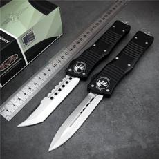 microtechtroodon, springassistknife, Hunting, Aluminum