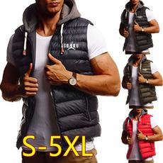 Vest, Fashion, cottonpaddedjacket, Men