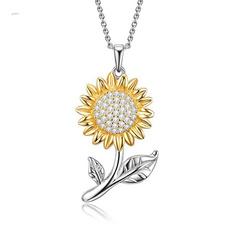 Jewelry, Sunflowers, Diamond Necklace, Women's Fashion