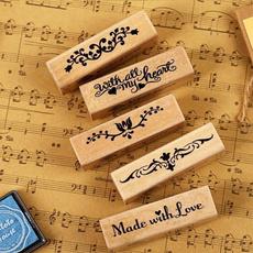 artstamp, woodenseal, Stamps, Vintage