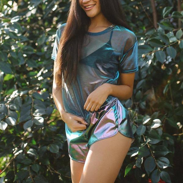 Fashion, Laser, Sleeve, Shorts