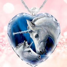 Sterling, Romantic, princessnecklace, unicornpendant