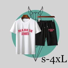 Shorts, shortsleeveset, sweat suit, slim