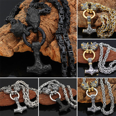 Steel, King, Chain Necklace, Stainless Steel