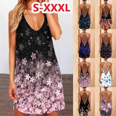 Summer, Fashion, slim dress, plus size dress