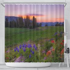 decoration, Bathroom Accessories, flowersunsetshowercurtain, Waterproof