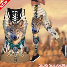 nativeindian, Camouflage Leggings, Fitness, Plus Size