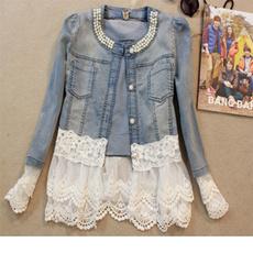 Summer, Fashion, denimoutwear, Lace