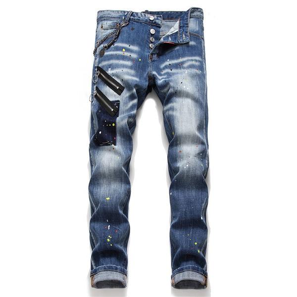 trousers, dsq2jean, Elastic, pants