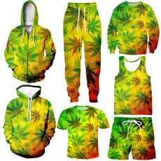 hoodiesformen, Plus Size, leaf, Zipper Mens Hoodies