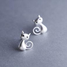 cute, Silver Earrings, Fashion, Jewelry